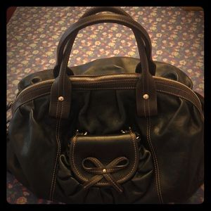 Nordstrom Branded Leather Satchel
